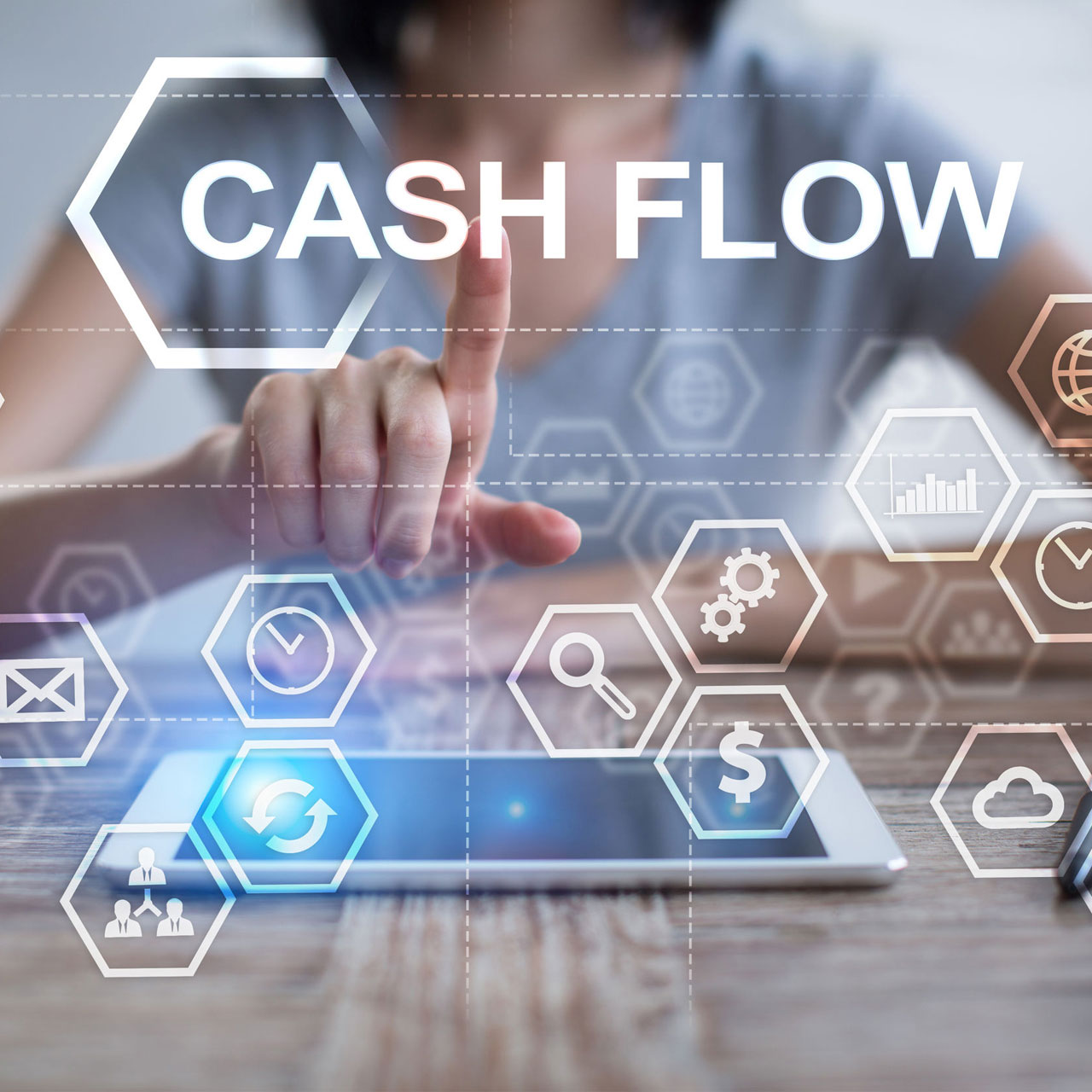 UpVue Cash flow and budget flowcast
